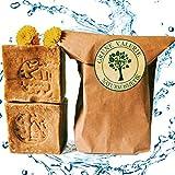 Original Aleppo Seife  2 x 200g, 60% Olivenöl 40% Lorbeeröl, PH Wert 8, Detox Eigenschaften, veganes Naturprodukt - Handarbeit nach jahrtausend altem Traditionsrezept, über 6 Jahre gereift!