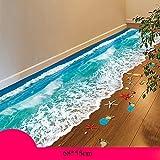 Möbelsticker Feifei Wand-Aufkleber 3D dreidimensionale Selbstklebende Wasserdichte kreative Schlafzimmer Wohnzimmer Wand-Boden-Aufkleber (Farbe mehrfache Wahl) (Farbe : 04)