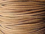 Lederband, Lederschnur, Lederriemen 5 m. Rund 2,0 mm. Natur