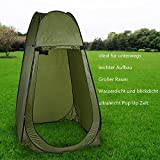Qulista Outdoor ultraleicht Pop Up Zelt Duschzelt Trekkingszelt Schnell-Trocken, Campingtoilette Toilettenzelte für unterwegs privat blickdicht inklusive Tasche (Grün)