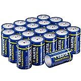 Varta Industrial Batterie D Mono Alkaline Batterien LR20 - 20er pack, Made in Germany