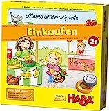 HABA 302781 - Meine ersten Spiele - Einkaufen, Spiel ab 2 Jahren mit 3D-Marktstand und Spielmaterial aus Holz