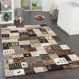 Designer Teppiche Modern Loribaft Nomaden Teppich Gabbeh Optik Beige Braun Creme, Grösse:160x230 cm
