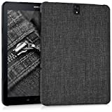 kwmobile Hardcase Stoff Hülle für Samsung Galaxy Tab S3 9.7 T820/T825 - Cover Case in Stoff Design Dunkelgrau
