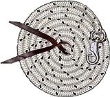Bodenarbeitsseil 3,2 m| Bodenleine | Führseil mit Bull Snap | Pferdeausbildungsstrick | Western Rope für Horsemanship und Bodenarbeit weiß/schwarz