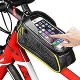 WESTGIRL Fahrradtasche für Fahrrad, westbike-Fahrrad Beutel-Speicher, Fahrrad-Rahmen Tasche Leder, wasserdicht, verschleißfest, 1,5 l große Kapazität, REIT Schlauch Packung für Telefon-6,0 Zoll