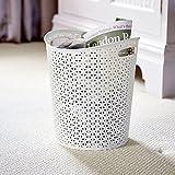 Home Curver My Style Papierkorb/Mülleimer, Inhalt: 13Liter,für die Küche, das Büro oder Schlafzimmer, weiß
