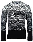 Carisma Herren - Strickpullover 7398 Streetwear Menswear Autumn/Winter Knit Knitwear Sweater CRSM CARISMA Fashion, Größe L, Farbe Black