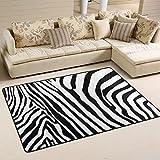 coosun Zebra Muster Bereich Teppich Teppich rutschfeste Fußmatte Fußmatten für Wohnzimmer Schlafzimmer 182.9 x 121.9 cm, Textil, multi, 72 x 48 inch