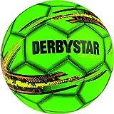 Derbystar Freizeit Fußball Street Soccer, Ball Größe 5 (410 g), grün gelb orange, 1532