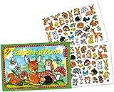 Stickeralbum mit über 80 Sticker * SÜSSE WALDTIERE * von LUTZ MAUDER // 72010 // Rehe Hasen Igel Rehkitz Mäuse Geschenk Tattoo Kindersticker Aufkleber Stickerbuch