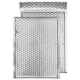 Blake Purely Packaging MBS324 Luftpolsterversandtasche, Haftklebung mit Abziehstreifen, C4+, 324 x 230 mm, 100-er Pack, metallic-silber