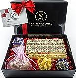 Bio Badepralinen 'Oase der Sinne' / Edles 7er Geschenkset von höchster Qualität / Badekugeln in hochwertiger Geschenk Box mit Satinschleife / Vegane Geschenk-Idee für die Frau