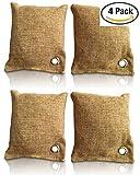 Bambus Lufterfrischer mit Aktivkohle 4x200g - Geruchskiller & Luftreiniger für Wohnung, Auto, Küche, Schuhe, WC