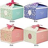 Chilly Geschenk-Boxen, Set mit 12 dekorativen Kästchen für Kekse, Leckereien, Süßigkeiten und selbstgemachte Seifen, Geschenkschachtel für Babyparty, Weihnachten, Geburtstage, Urlaub, Abschlussfeiern, Hochzeiten (Blume Patterned)