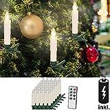 30 LED Weihnachtsbaumkerzen mit Fernbedienung Warmweiß  Dimmfunktion  inkl. Batterien Weihnachtskerzen Weihnachtsdekoration  Kabellos  Timerfunktion Weihnachtsbaumbeleuchtung  Modellauswahl