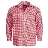 Bongossi-Trade Trachtenhemd für Trachten Lederhosen Freizeit Hemd rot-kariert S