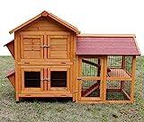 Kaninchenstall Kleintierhaus Hasenstall Kleintierkäfig Nr. 05 'De Luxe' mit Seitenflügeln