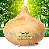 Aroma Diffuser 300ml InnooCare Luftbefeuchter Öl Ultraschall Düfte Humidifier Holzmaserung LED mit 7 Farben für Babies Kinderzimmer Haus, Auto, Wohnzimmer, Schlafzimmer, Büro, Yoga, Spa, Raum usw.