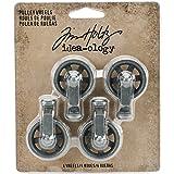 Unbekannt Tim Holtz Mini Seilzug Räder Craft Zubehör, grau