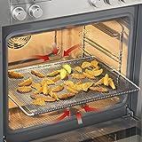 GOURMETmaxx Backofengitter | Grillgitter, Grillblech, grillrost für fettarmes Heißluft-Garen im Ofen (Grillblech)