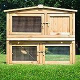 ZooPrimus Kleintier-Stall Nr 02 Kaninchen-Käfig 'OBELIX' Meerschweinchen-Haus für Außenbereich (Breite 100cm, Tiefe 52cm, Höhe 92cm, geeignet für Kleintiere: Hasen, Kaninchen, Meerschweinchen usw.)
