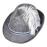 S/O Trachtenhut Blau/Weiß mit Feder Bayern Filzhut Trachtenhut Seppel Hut Bier Hut Tiroler Tirolerhut