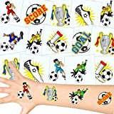 German Trendseller - Fußball Tattoos Set ┃ NEU ┃ Fußball Party ┃ Kindergeburtstag ┃ Mitgebsel ┃36 Tattoos