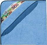 Kinderbutt Kapuzenbadetuch hellblau Größe 140x140 cm