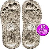 Sticky Feet Fußpads für die Selbstbräunung, 10 Paar Einweg-Trägerlose Aufklebeschutz Bräunungs Fußpads für Spraybräune oder Spray Bräunungszelt, Ideal für sonnenlose Bräune, 20 Stück.