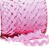 Zackenlitze, Uni 12 mm / 12 mm, col.131, rosa, 2m, 100% Polyester
