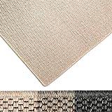 casa pura Moderner Teppich in Premium Sisal Optik   ausgezeichnet mit GUT-Siegel   pflegeleichtes Flachgewebe   viele Größen (beige, 160x230 cm)