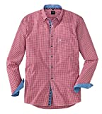 OLYMP Hemd Trachtenhemd Casual Modern Fit Rot, Größe L