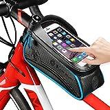 Fahrradtasche für Fahrrad, westbike-Fahrrad Beutel-Speicher, Fahrrad-Rahmen Tasche Leder, wasserdicht, verschleißfest, 1,5 l große Kapazität, Reit Schlauch Packung für Telefon-6,0 Zoll