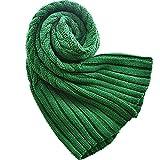 ZJM-scarf Verdicken Schal Tippet Winter Warm Halstuchok Strickschals Studenten Liebhaber (Farbe : Grün)
