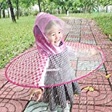 Hunpta@ Regenponcho Kind,Regenmantel Kinder Netter Regen-Mantel UFO-Kind-Regenponchom-Hut-Magische Hände Geben Regenmantel Frei für Kinder Regenponcho