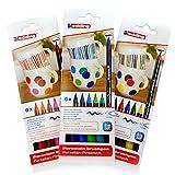 edding Porzellan-Pinselstift edding 4200, 1 - 4 mm | sortiert in verschiedenen Farben zur Auswahl (3, Alle 3 Sorten)