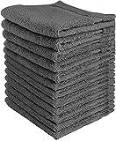 Utopia Handtücher Luxus Baumwolle Waschlappen Handtuch Set (12 Pack, grau, 30 x 30 Zentimeter) Mehrzweck-Extra Soft Fingertip Handtücher, hochabsorbierende Waschlappen, Maschinenwäsche Sport und Workout Handtücher