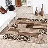 Teppich Günstig Patchwork Design Modern Wohnzimmerteppich Beige Creme, Größe:240x340 cm