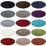 Hochflor Shaggy Rund Teppich Carpet Wohnzimmer vers. Farben & Größen Neu, Farbe:Beige, Größe:200 cm Rund
