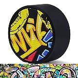 Miric Bluetooth Lautsprecher wiederaufladbar mit eingebautem Mikrofon, Tragbare Lautsprecher SD-Karte und Superior Sound und Bass, Außen-Lautsprecher mit zufälligen Graffiti-Muster.