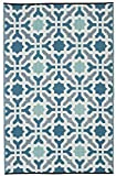 Fab Hab - Seville - Multifarben - Blau - Teppich/ Matte für den Innen- und Außenbereich (120 cm x 180 cm)