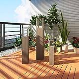 mewmewcat 3-teilig Säulen Set Windlicht-Säulen Windlichtsäule Kerzenständer Kerzensäulen aus MDF+Glas
