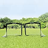 2er Set faltbar Tor - Fußball-Tor Pop Up - Fußballtor klappbar 120 x 90 x 90 cm