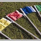 Fußball-Eckfahne aus Nylon, Einfarbig, gelb