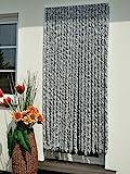Türvorhang Flauschvorhang Flauschi Chenillevorhang 100x200 silberweiss