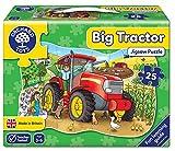 Puzzle, 62x41cm, Traktor, 25 Teile