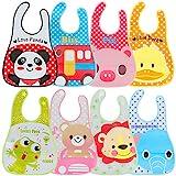 Baby Bib Set, Lictin 8 Stück Babylätzchen Wasserdicht Lätzchen Unisex Baby Lätzchen Set für Baby 6 - 36 Monaten
