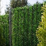 FairyTrees Sichtschutz Garten Zaunblende, GreenFences Hecke, Kiefernoptik Dunkelgrün, PVC, Höhe 130cm, 1m