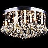 LED Lüster Kristall Deckenleuchte - CCLIFE (2017 Modern Design) Ø45cm Für Wohnzimmer, Esszimmer, Treppenhaus, Korridor, 9 x G9 Sockel, 2 jährliche Garantie